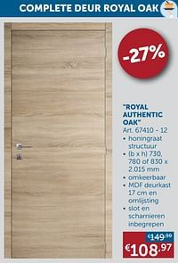 Royal authentic oak-Huismerk - Zelfbouwmarkt