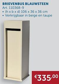 Brievenbus blauwsteen-Huismerk - Zelfbouwmarkt
