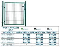 Dubbele tuinpoorten vierkante mazen-Huismerk - Zelfbouwmarkt