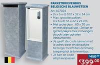 Pakketbrievenbus belgische blauwsteen-Huismerk - Zelfbouwmarkt