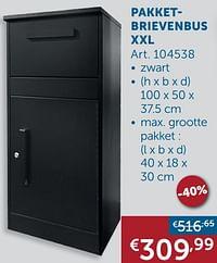 Pakketbrievenbus xxl-Huismerk - Zelfbouwmarkt