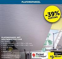Plafondpaneel met houtnerfstructuur-Huismerk - Zelfbouwmarkt