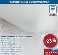 Plafondpaneel planchetten aqua-Aqua