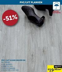 Pvc - lvt vloer grijze eik-Huismerk - Zelfbouwmarkt