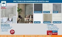 Pvc tegels en wandpanelen dikte panelen-Huismerk - Zelfbouwmarkt