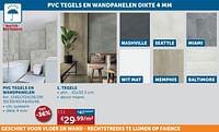 Pvc tegels en wandpanelen dikte tegels-Huismerk - Zelfbouwmarkt
