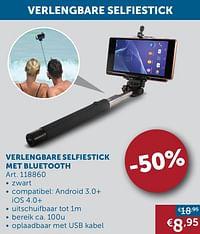 Verlengbare selfiestick met bluetooth-Huismerk - Zelfbouwmarkt