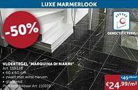 Vloertegel marquina di marmi-Huismerk - Zelfbouwmarkt