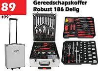 Gereedschapskoffer robust 186 delig-ROBUST