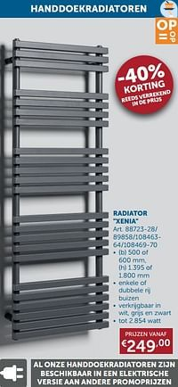 Handdoekradiatoren radiator xenia-Beauheat