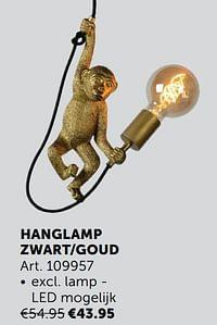 Hanglamp zwart-goud-Huismerk - Zelfbouwmarkt