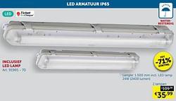 Led armatuur ip65 2 lampen