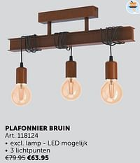 Plafonnier bruin-Huismerk - Zelfbouwmarkt