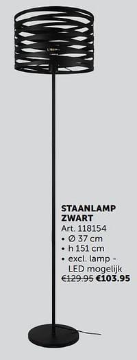 Staanlamp zwart-Huismerk - Zelfbouwmarkt