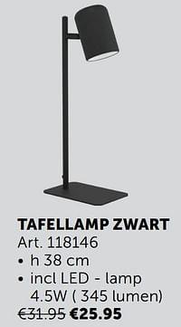 Tafellamp zwart-Huismerk - Zelfbouwmarkt