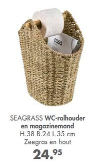 Seagrass wc-rolhouder en magazinemand-Huismerk - Casa