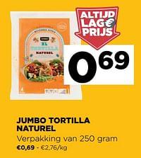 Jumbo tortilla naturel-Huismerk - Jumbo