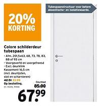 Colore schilderdeur tubespaan-Huismerk - Gamma