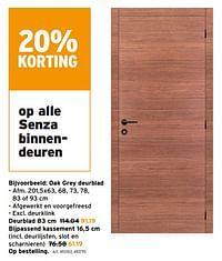 Senza binnendeuren oak grey deurblad-Senza