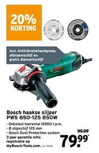 Bosch haakse slijper pws 850-125 850w-Bosch