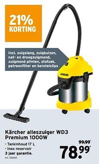 Kärcher alleszuiger wd3 premium 1000w-Kärcher