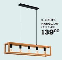 5-lichts hanglamp-Eglo