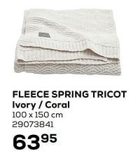 Fleece spring tricot ivory - coral-Jollein