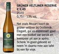 Grüner veltliner reserve-Witte wijnen