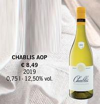 Chablis aop-Witte wijnen