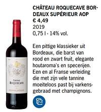 Château roquecave bordeaux supérieur aop-Rode wijnen