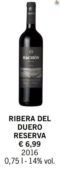 Ribera del duero reserva-Rode wijnen