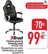 Trust chaise gaming gaming stoel ryon 705-Trust