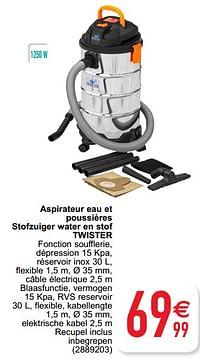 Aspirateur eau et poussières stofzuiger water en stof twister-Twister