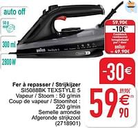 Braun fer à repasser - strijkijzer si5088bk texstyle 5-Braun