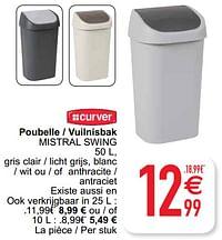 Poubelle - vuilnisbak mistral swing-Curver