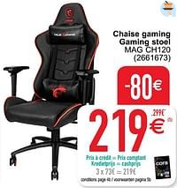 Chaise gaming gaming stoel mag ch120-MSI