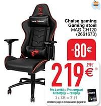 Msi chaise gaming gaming stoel mag ch120-MSI