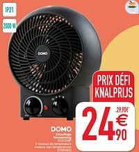 Domo elektro chauffage verwarming do7324f-Domo elektro