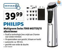 Philips multigroom series 7000 mg7720-15 allestrimmer-Philips