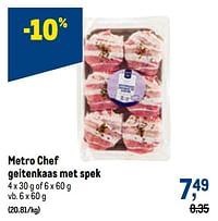 Metro chef geitenkaas met spek-Huismerk - Makro