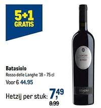 Batasiolo rosso delle langhe-Rode wijnen