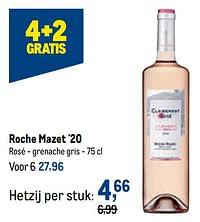 Roche mazet `20 rosé - grenache gris-Rosé wijnen