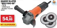 Black + decker haakse slijper beg110a3-qs-Black & Decker