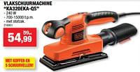 Black + decker vlakschuurmachine ka320eka-qs-Black & Decker