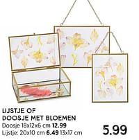 Lijstje met bloemen-Huismerk - Xenos