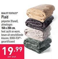 Plaid-Quality Textiles