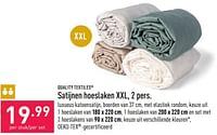 Satijnen hoeslaken xxl-Quality Textiles