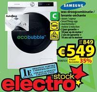 Samsung was-droogcombinatie - lavante-séchante wd80t634-Samsung