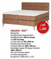 Skagen - rist boxspring-Huismerk - Weba