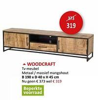 Woodcraft tv-meubel-Huismerk - Weba